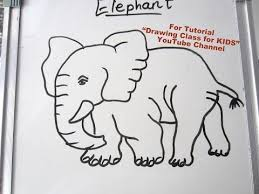 how to draw an elephant hathi step by step tutorial for kids drawing
