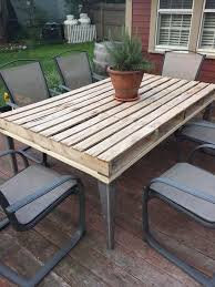 diy pallet outdoor dinning table. outdoor pallet dining table diy dinning diytomake