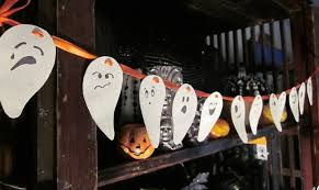 diy halloween decorations home. Diy Halloween Decor Home Paper Ghosts Faces Garland Decorations
