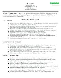 Sample Resumes For Management Sample Management Resumes Example ...