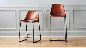 wood and leather bar stools black leather wooden bar stools