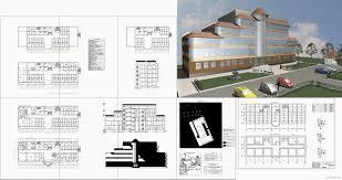 Курсовые и дипломные проекты общественное здание скачать dwg  Дипломный проект колледж Гостиница 16 2 х 50 2 м в