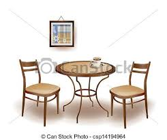 round table and chairs clipart. vector - illustration of the round table and chairs clipart o