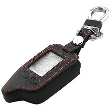 new leather key case for tomahawk tw9010 tw9020 tw4000 tw701 lcd remote keychain fob