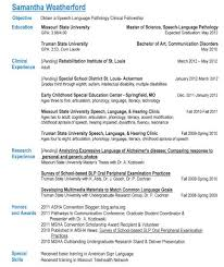 resume for speech language pathologist
