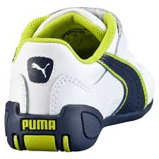 puma tune cat b2 infant toddler kids girls shoes white peacoat lime punch