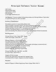Principal Software Tester Cover Letter Sample Resume Test Engineer