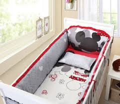 Mickey Mouse Bedroom Decorations Red And White Mickey Mouse Crib Bedding Cotton Bedding