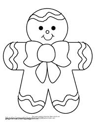 Gingerbread Man Coloring Sheet Gyerekpalotainfo