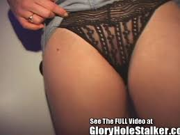 Wife gets gloryhole creampie