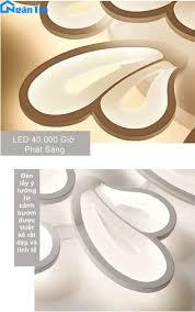 Đèn Mâm LED 9 Cánh Ốp Trần Hình Cánh Bướm Trang Trí Phòng Khách Led 3 Chế Độ  Màu MO980 Ngân Tin (Tặng kèm remote điều khiển tiện dụng) - Đèn Trang