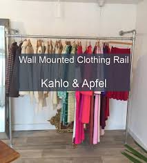 Wall mounted clothing rails Ideas Wall Mounted Clothes Rail Simplified Building Wall Mounted Clothing Rail Simplified Building