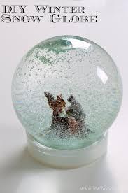 diy winter snow globe