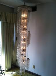 austrian crystal chandelier floor to ceiling very rare