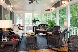 wicker furniture decorating ideas. Interesting Wicker Smart Summer Decorating Idea Of A Sunroom With Black Wicker Furniture And  White Paint Throughout Ideas G
