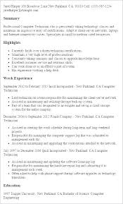 Computer Technician Sample Resume Best of Computer Technician Resume Computer Technician Resume Tech Samples
