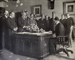 Open door policy history Imperialism John Hay Signing The Treaty Of Paris Memorandum Of Ratification On Behalf Of The United States 1899 Educalingo John Hays Open Door Policy Set The Cornerstone Of Us Foreign