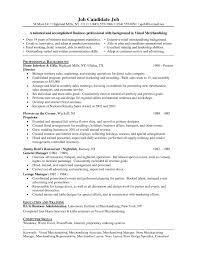 Resume Examples Visual Merchandising Sidemcicek Com