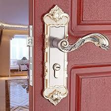e support continental antique mechanical locks interior door gold handle lock set