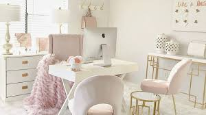 home office white office. Blush Pink Home Office Tour White