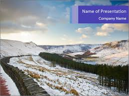 Winter Powerpoint Dovestone Reservoir At Winter Powerpoint Template Infographics Slides