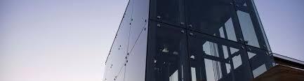 a smart looking door handle on glass