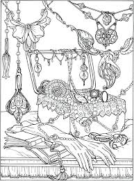 printable coloring page by publications art jewelry box necklaces jewellery jewels pearls book gloves pages ancient jewelry coloring pages ancient