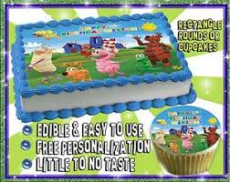 Word World Birthday Cake Topper Edible Sugar Cupcakes Picture Image