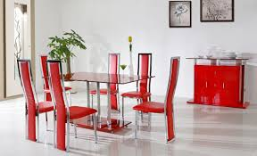decorating with red furniture. Fantastic Red Dining Room Decorating Ideas With Furniture G
