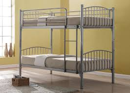 Kidspace Bedroom Furniture Bedding Kidspace Domino Metal Bunk Bed Frame With Optional