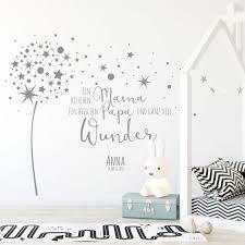 Wandtattoo Babyzimmer Pusteblume Spruch Zitat Sterne Kinderzimmer