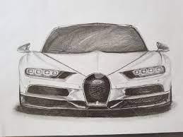 Como dibujar mercedes sls amg por el l?piz etapa por etapa. Bugatti Chiron 1500cv Drawing By Bruno Cardoso Artmajeur