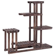 6 tier wooden plant pot stand rack