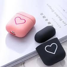 Pink Black Lover Heart Pattern <b>Hard PC Earphone Matte</b> Cases For ...