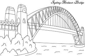Small Picture Sydney harbour bridge coloring page for kids