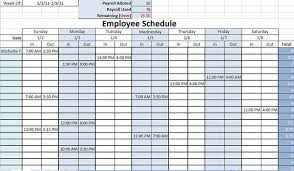 6 Blank Work Schedule Template Free Download