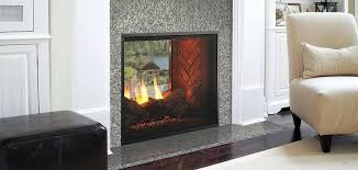 prev indoor outdoor gas fireplace see through for double sided