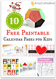10 Free Printable Calendar Pages For Kids - Artsy Craftsy Mom