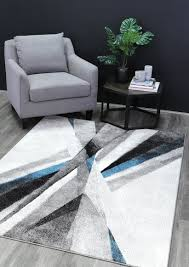 Madison Cross Roads Modern Blue Rug – RugsDirect