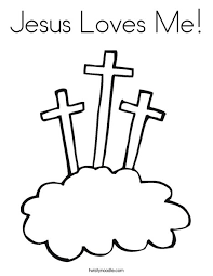 Jesus Loves Me Coloring Pictures Coloring Free Printable Jesus Loves