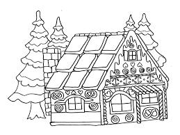 Maison Noel Coloriage
