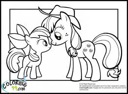 Small Picture My Little Pony Apple Bloom And Applejack Coloring Pages movies My