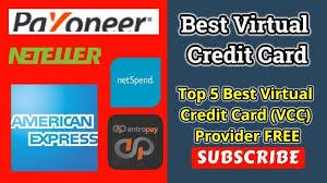 10 best virtual credit card vcc