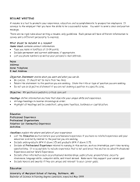 Resume Examples Templates Basic Resume Objective Statement