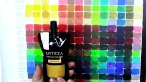 Diy Paint Color Chart Arteza Haul Diy Acrylic Color Mixing Chart And Canvas Panel Review