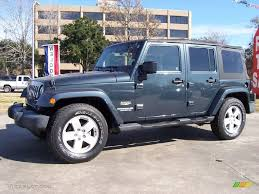 2007 Steel Blue Metallic Jeep Wrangler Unlimited Sahara #23855840 ...
