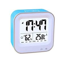 alarm clock for bedroom. bedroom 3 in1 multifunction alarm clock, rechargeable clock with 12h or 24h/temperature for l