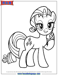 Small Picture Unicorn Pony Rarity Coloring Page Free Printable Coloring Pages
