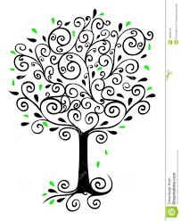 Filigree Tree stock illustration. Illustration of spirals - 13646706