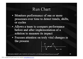 Run Chart Pdf Run Charts Lecture Production Management Docsity